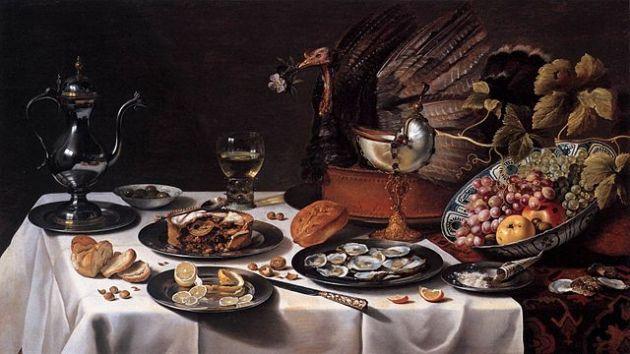 640px-Still_Life_with_Turkey_Pie_1627_Pieter_Claesz