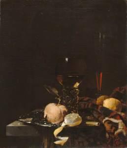 Kalf, Willem, 1619-1693; Still Life: Fruit, Goblet and Salver